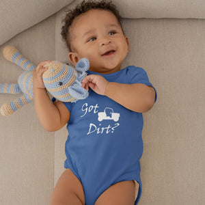 Got Dirt? Fun on a Side-by-Side! Novelty Infant One-Piece Baby Bodysuit - CampWildRide.com