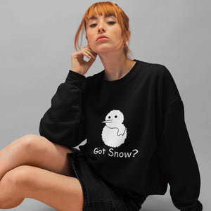 Got Snow? Build a Snowman! Novelty Sweatshirts Crewneck Pullover