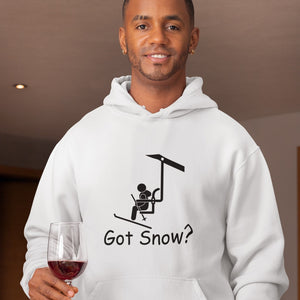 Got Snow? View from the Chair Lift! Novelty Hoodies (No-Zip/Pullover) - CampWildRide.com