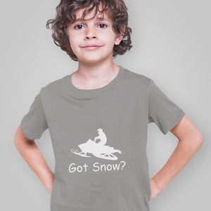 Got Snow? Escape on a Snowmobile! Novelty Short Sleeve Youth T-Shirt