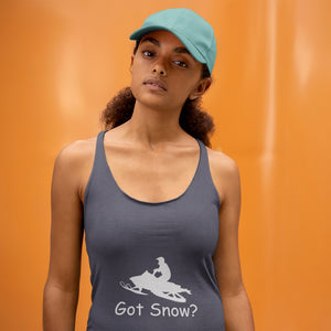 Got Snow? Escape on a Snowmobile! Novelty Women's Tank Top T-Shirt - CampWildRide.com