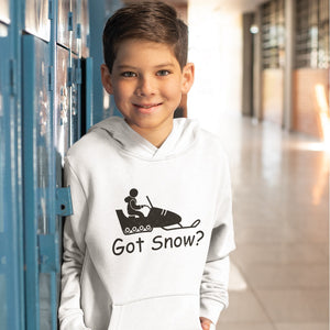 Got Snow? Fun on a Snowmobile! Novelty Youth Hoodies (No-Zip/Pullover) - CampWildRide.com