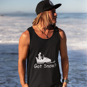 Got Snow? Fun on a Snowmobile! Novelty Tank Top T-Shirt - CampWildRide.com