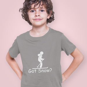 Got Snow? Having Fun on the Slopes! Novelty Short Sleeve Youth T-Shirt - CampWildRide.com