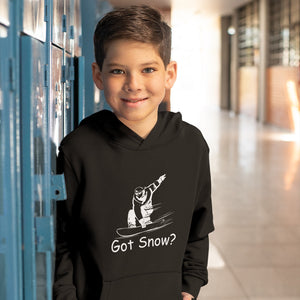 Got Snow? Shreddin with a Snowboard! Novelty Youth Hoodies (No-Zip/Pullover) - CampWildRide.com