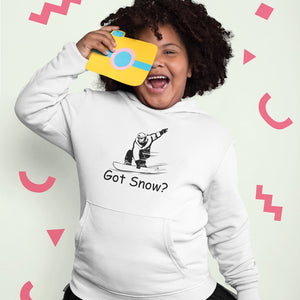 Got Snow? Shreddin with a Snowboard! Novelty Youth Hoodies (No-Zip/Pullover)