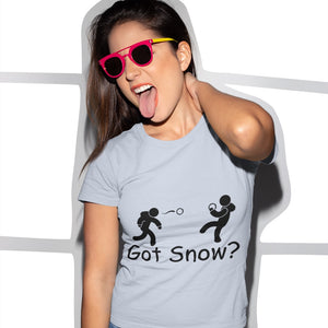 Got Snow? Snowball Fight! Novelty Short Sleeve T-Shirt - CampWildRide.com