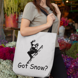 Got Snow? Cool Snowboarder! Novelty Funny Tote Bag Reusable - CampWildRide.com