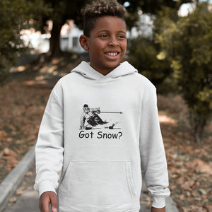 Got Snow? Tearing up the Powder! Novelty Youth Hoodies (No-Zip/Pullover)