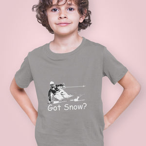 Got Snow? Tearing up the Powder! Novelty Short Sleeve Youth T-Shirt - CampWildRide.com