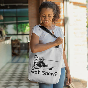 Got Snow? Tearing up the Powder! Novelty Funny Tote Bag Reusable - CampWildRide.com