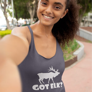 Got Elk? Stand Still! Novelty Women's Tank Top T-Shirt - CampWildRide.com