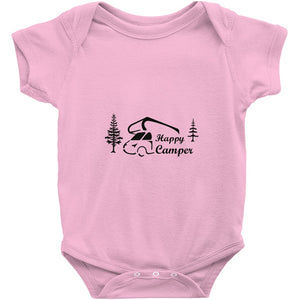 Happy Camper Novelty Funny Infant One-Piece Baby Bodysuit
