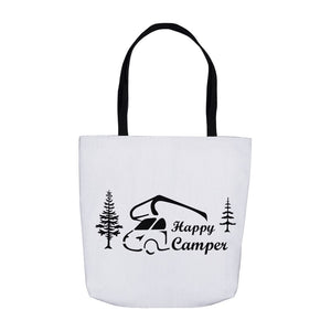 Happy Camper Novelty Funny Tote Bag Reusable