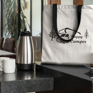 Happy Camper Novelty Funny Tote Bag Reusable - CampWildRide.com