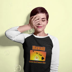 Hawaii Gets Its S'more On! Novelty Baseball Tee (3/4 sleeves) - CampWildRide.com