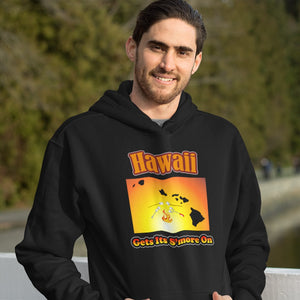 Hawaii Gets Its S'more On! Novelty Hoodies (No-Zip/Pullover) - CampWildRide.com