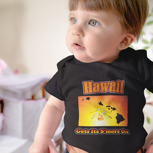 Hawaii Gets Its S'more On! Novelty Infant One-Piece Baby Bodysuit - CampWildRide.com