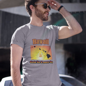 Hawaii Gets Its S'more On! Novelty Short Sleeve T-Shirt