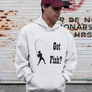 Got Fish? Work that Rod! Novelty Hoodies (No-Zip/Pullover) - CampWildRide.com