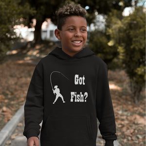 Got Fish? Work that Rod! Novelty Youth Hoodies (No-Zip/Pullover) - CampWildRide.com