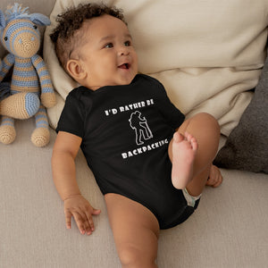 I'd Rather Be Backpacking! Novelty Infant One-Piece Baby Bodysuit - CampWildRide.com