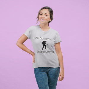 I'd Rather Be Backpacking! Novelty Short Sleeve T-Shirt - CampWildRide.com