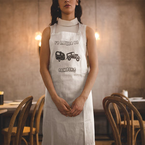 I'd Rather Be Camping-Live it in a RV! Novelty Funny Apron - CampWildRide.com