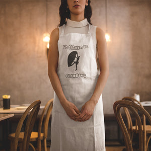 I'd Rather Be Climbing! Novelty Funny Apron