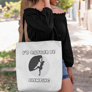 I'd Rather Be Climbing! Novelty Funny Tote Bag Reusable