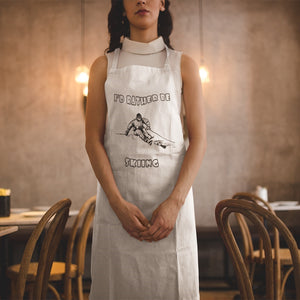 I'd Rather Be Skiing Powder! Novelty Funny Apron - CampWildRide.com