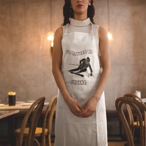 I'd Rather Be Skiing! Novelty Funny Apron - CampWildRide.com