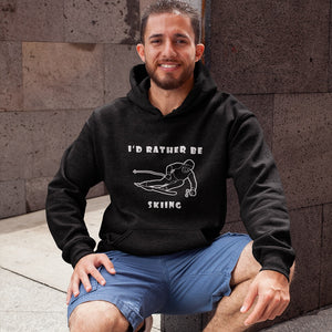 I'd Rather Be Skiing! Novelty Hoodies (No-Zip/Pullover) - CampWildRide.com