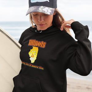 Illinois Gets Its S'more On! Novelty Hoodies (No-Zip/Pullover)