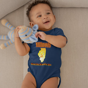 Illinois Gets Its S'more On! Novelty Infant One-Piece Baby Bodysuit - CampWildRide.com