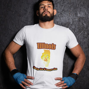 Illinois Gets Its S'more On! Novelty Short Sleeve T-Shirt