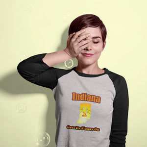 Indiana Gets Its S'more On! Novelty Baseball Tee (3/4 sleeves)