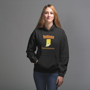 Indiana Gets Its S'more On! Novelty Hoodies (No-Zip/Pullover) - CampWildRide.com