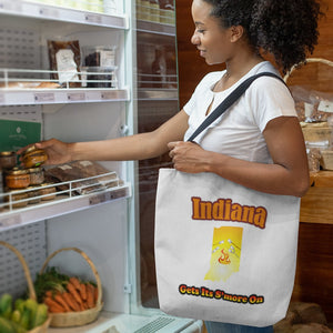 Indiana Gets Its S'more On! Novelty Funny Tote Bag Reusable