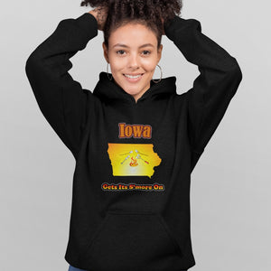 Iowa Gets Its S'more On! Novelty Hoodies (No-Zip/Pullover) - CampWildRide.com