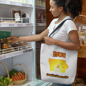 Iowa Gets Its S'more On! Novelty Funny Tote Bag Reusable