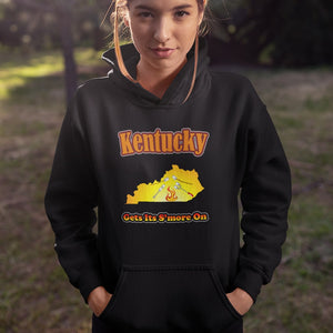 Kentucky Gets Its S'more On! Novelty Hoodies (No-Zip/Pullover) - CampWildRide.com