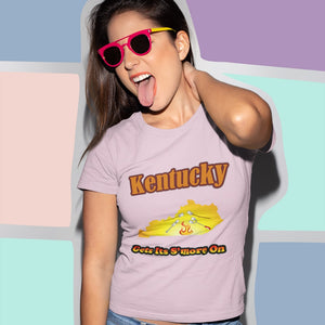 Kentucky Gets Its S'more On! Novelty Short Sleeve T-Shirt - CampWildRide.com