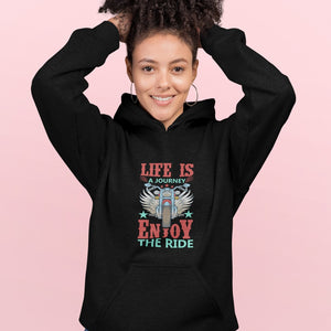 Life is a Journey, Enjoy the Ride, Fun on a Hog! Novelty Hoodies (No-Zip/Pullover) - CampWildRide.com