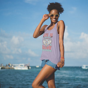 Life is a Journey, Enjoy the Ride, Fun on a Hog! Novelty Women's Tank Top T-Shirt - CampWildRide.com
