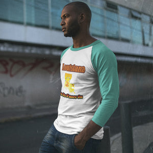 Louisiana Gets Its S'more On! Novelty Baseball Tee (3/4 sleeves) - CampWildRide.com