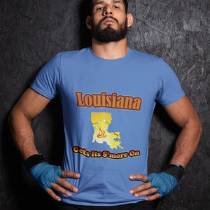 Louisiana Gets Its S'more On! Novelty Short Sleeve T-Shirt - CampWildRide.com