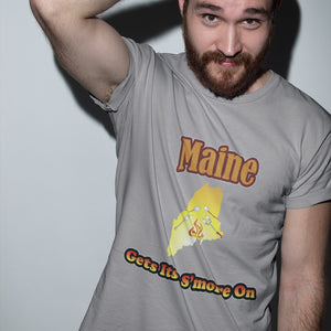 Maine Gets Its S'more On! Novelty Short Sleeve T-Shirt - CampWildRide.com