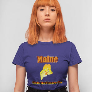 Maine Gets Its S'more On! Novelty Short Sleeve T-Shirt