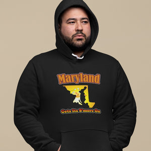 Maryland Gets Its S'more On! Novelty Hoodies (No-Zip/Pullover)